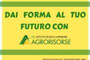 E' IN ARRIVO IL SECONDO OPEN DAY DEL PERCORSO ITS AGRORISORSE 2019-21